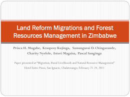 Land Reform Migrations and Forest Resources Management