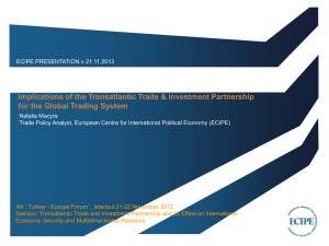Implications of the Transatlantic Trade & Investment