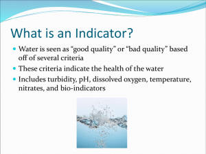 Water Quality Indicators Notes