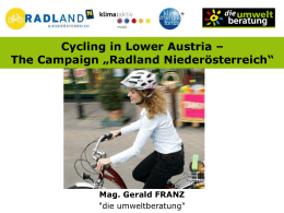 Cycling in Lower Austria – The Campaign