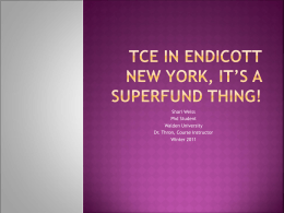 TCE And the endicott New York Superfund Site
