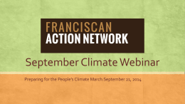 September Webinar - Franciscan Action Network