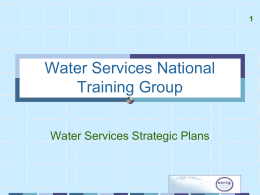 water services strategic plan