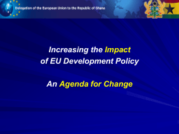 The Agenda for Change - the European External Action Service