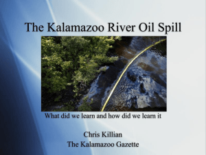 The Kalamazoo River Oil Spill