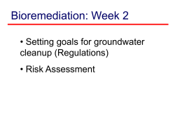 Bioremediation Week3