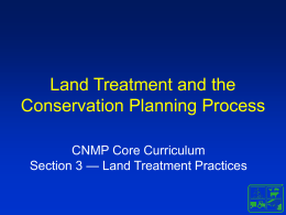Land Treatment and the Conservation Planning Process