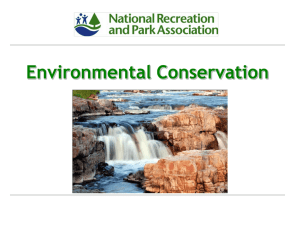 Environmental Conservation THE VALUE OF PARKS
