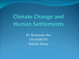Climate Change and Human Settlements