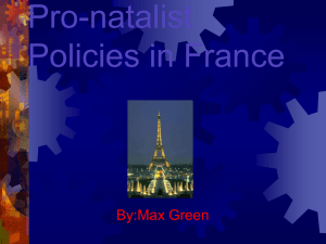 Pro-natalist Policies in France