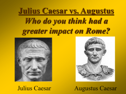 Julius vs. Augustus