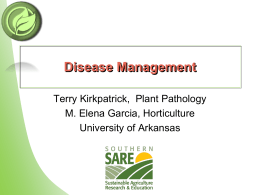 Disease Management - Sustainable Organic Horticulture