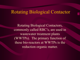 Rotating Biological Contactor (RBC)