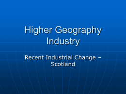 Higher Geography Industry