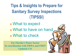 Tips & Insights for Sanitary Survey Preparation