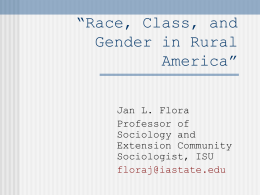 Race, Gender and Class in America