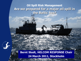environmental challanges of the baltic sea and international