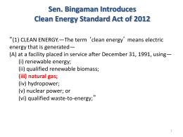 PowerPoint by Tony Ingraffea - American Clean Energy Agenda
