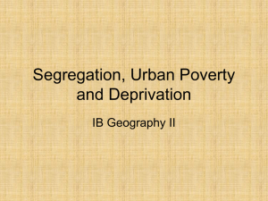 Urban Poverty and Deprivation