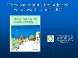 Evaluation of the 30-Year Plan for Greater Adelaide