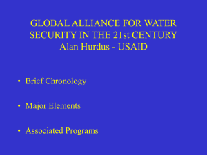 Global Alliance For Water Security in the 21st Century
