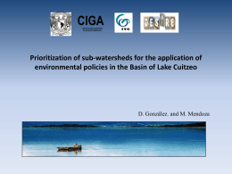 Prioritization of sub-watersheds for the application of environmental