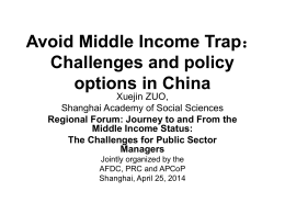 Avoid Middle Income Trap