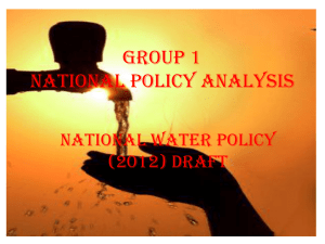Draft National Water Policy