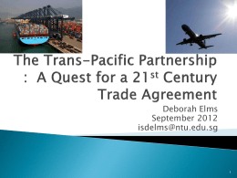 Trade Expansion in a Time of Economic Crisis? Following the Trans