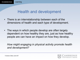 VCE Health and Human Development – Unit 4