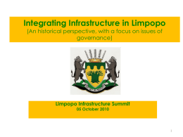 Integrating Infrastructure in Limpopo