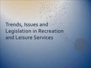 Trends and Issues in Recreation and Leisure Services