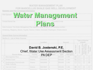 Water Management Plans