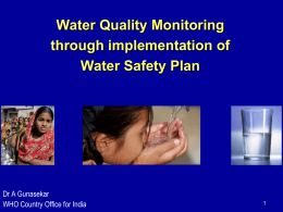 Water Quality Monitoring Through Implementation of Water Safety Plan