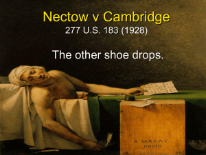 Nectow v Cambridge 277 U.S. 183 (1928)