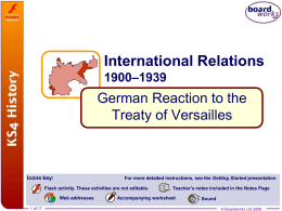 6. German Reaction to the Treaty of Versailles