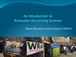 Cost - Water Resources Action Project