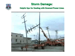 Helpful tips for Dealing with Downed Power Lines