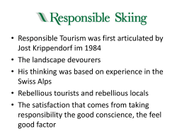 Responsible Skiing should