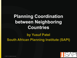 Planning Neighbouring Countries - ZIRUP
