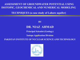 introduction to groundwater modeling, a case study of