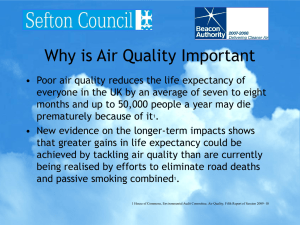Air Quality and Health in Sefton