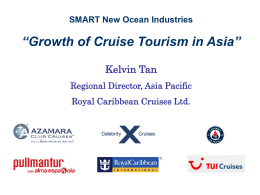 "SMART New Ocean Industries ""Growth of Cruise Tourism in Asia"""