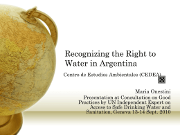 Recognizing the Right to Water in Argentina