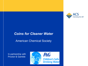 Clean Water Power-Point - American Chemical Society