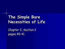 The Simple Bare Necessities of Life
