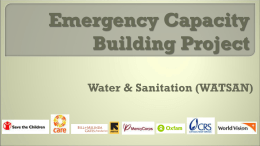 Emergency Water SupplySanitationHygiene