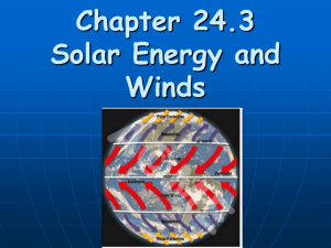 Chapter 24.3 Solar Energy and Wind