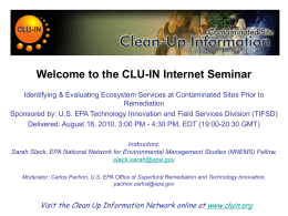 Identification & Evaluation of Ecosystem Services at - CLU-IN