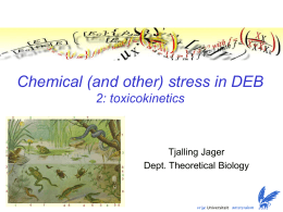 Chemical (and other) stress in DEB. 2) Toxicokinetics